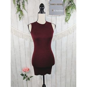 Forever 21 knitted red wine maroon dress stretchy